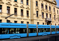Blue on yellow... Zagreb tram is definitely the way to get around