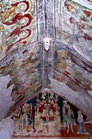 Medieval frescoes at Church of the Holy Spirit