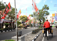 Becak (bicycle cab) ride to the Kraton