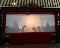 Shadow puppet performance at the Kraton