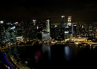 Singapore: Eveining view from Marina Bay Sands Skypark