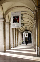 Arcaded sidewalk in Baixa