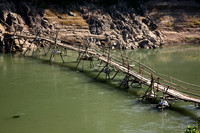 Bamboo bridge...it washes out in wet season every year