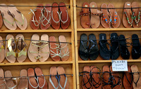 Sandals for sale in the Plaka