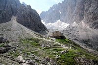 Rifugio Vicenza: now you see how isolated it really is
