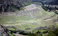Later in the morning, we get our first glimpse of the Inca archeological site of Llactapata