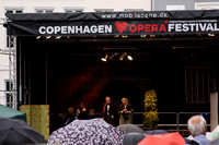 Copenhagen Opera Festival, in the rain--La Boheme at Nytorv