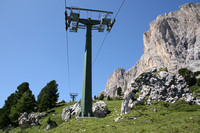 Many lifts in the area of the Langkofel