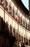 Lined with Italian flags