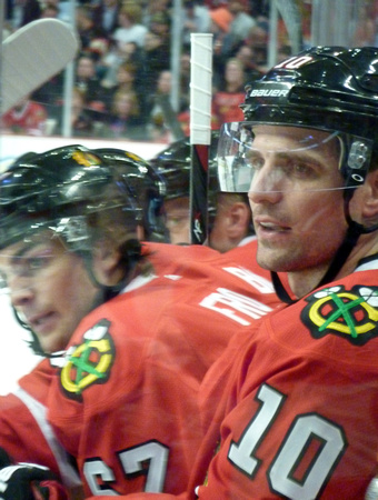 Michael Frolik and Patrick Sharp