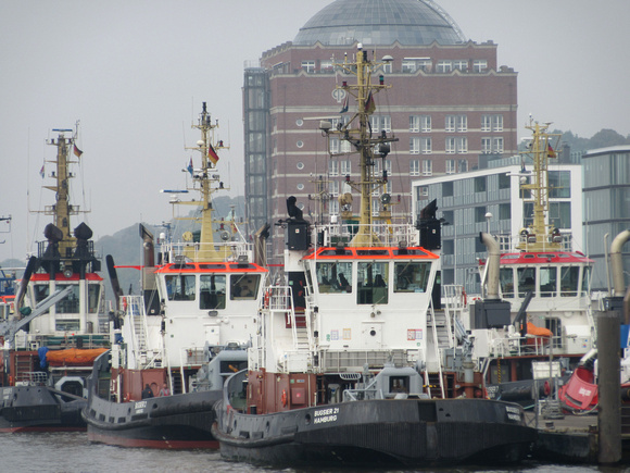 Tugs at the ready
