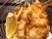 The famous Craypot fish and chips