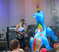 Shakey Graves (with blow-up unicorn)
