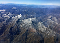 Heading towards Queenstown (had to hand my phone to the woman in the window seat for a photo)