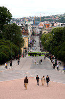 Looking down Karl Johan's Gate from the Slottet